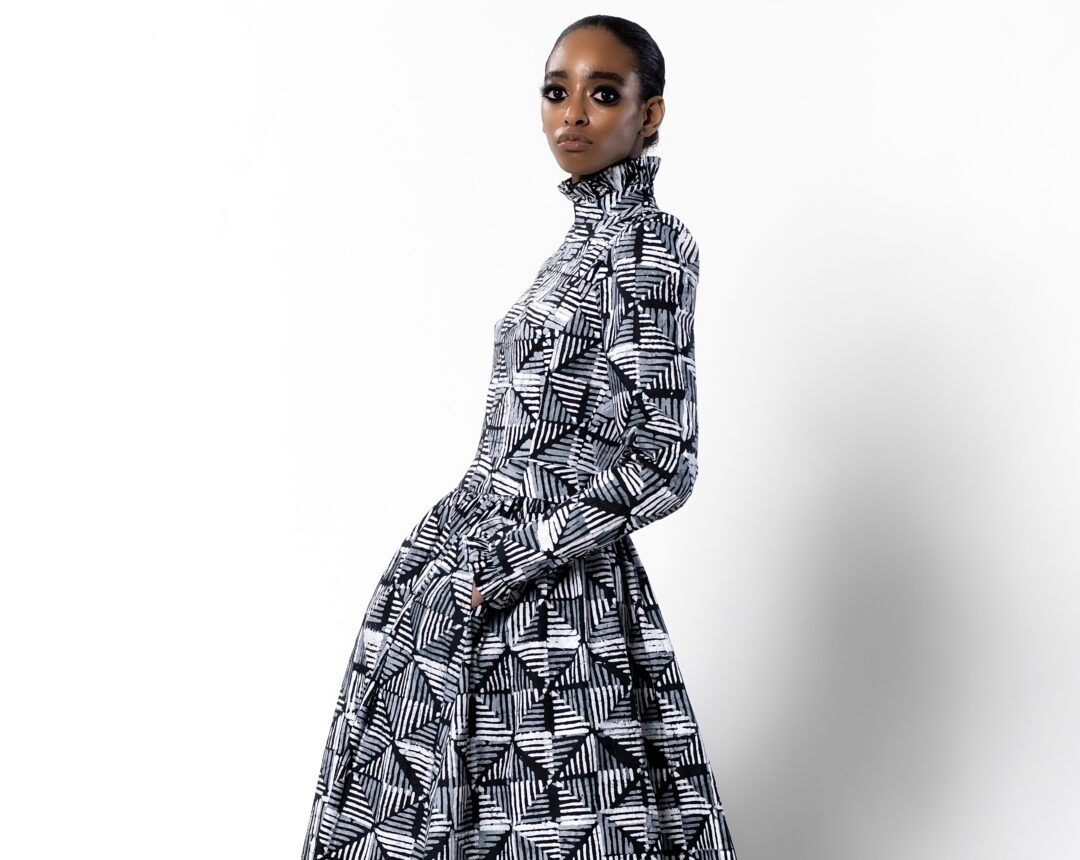 Look from Imane Ayissi Spring Summer 2021 Haute Couture collection