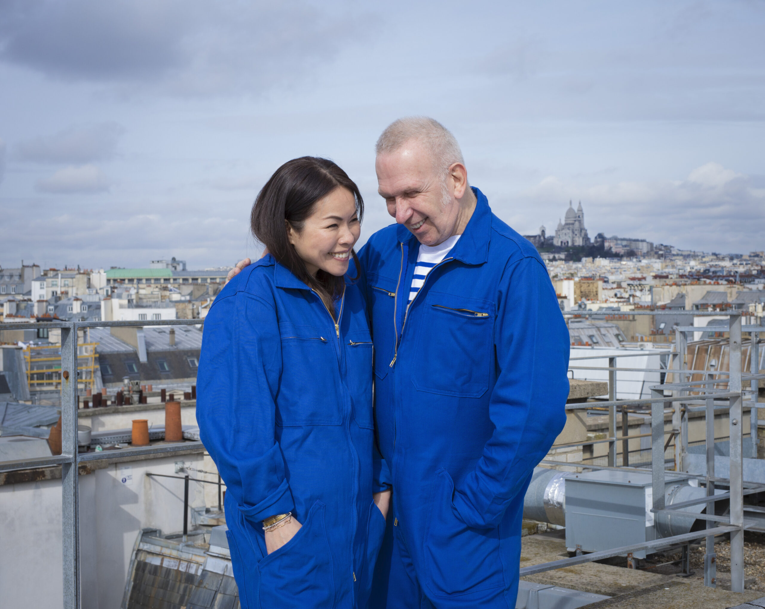 Portrait of Chitose Abe (Sacai) and Jean Paul Gaultier