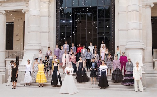 Looks from Chanel's Autumn-Winter 2021-2022 Haute Couture collection