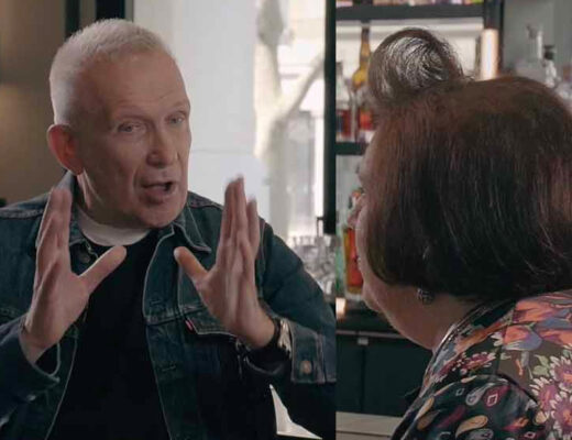 Portraits of Suzy Menkes and Jean Paul Gaultier